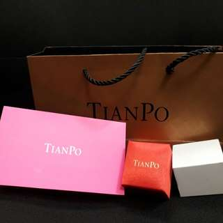 TIANPO ring box, paper bag, invoice holder