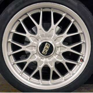 "Very rare BBS RZ 487 18"" (+ tires, requires swap)"