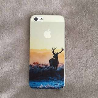 iPhone 5 phone case - Clear See-through Transparent Deer Silhouette Sunset