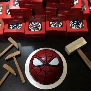 Spiderman Chocolate Piñata Cake