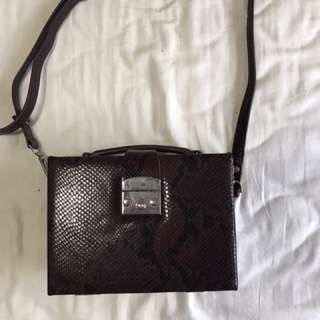 Zara snakeskin red bag