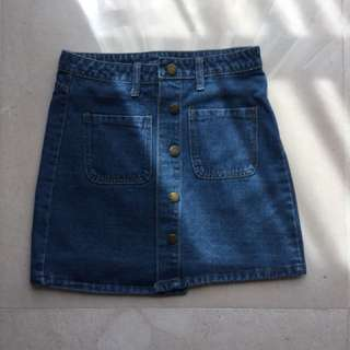 Denim Skirt #Bajet20
