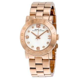 New Marc By Marc Jacobs MBM3077 White Dial Rose Gold-Tone Stainless Steel Ladies Womens Watch