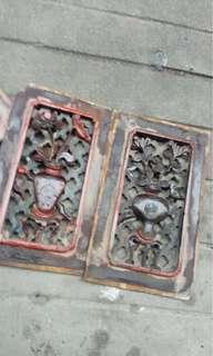旧木雕(两片)