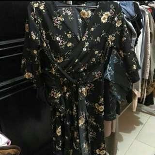Dress Kimono Ada Tali Ikat Elegant Dres