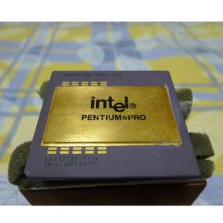 Intel Pentium Pro CPU ( collector item + high gold scrap value  )