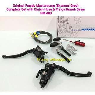 Original Frando Masterpump Complete Set with Clutch Hose & Piston Besar