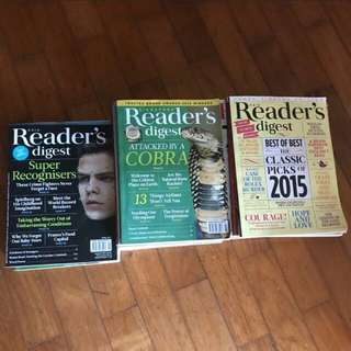 Readers Digest 2012-2015