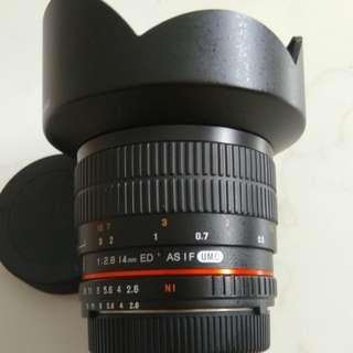 Samyang 14mm f2.8 Nikon AE version