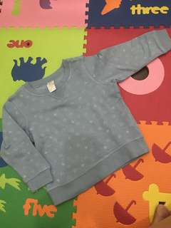 Preloved H&M shirt size 86 ( 12-18 months )