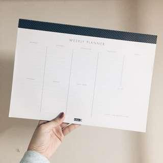 Kikki K. weekly planner desk pad