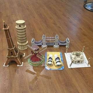 3D Puzzle (All 6 piece @ $15)
