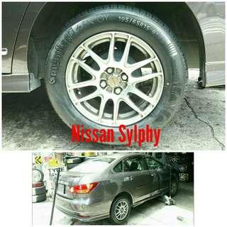 Tyre 195/65 R15 Membat on Nissan Sylphy 🐕 Super Offer 🙋♂️
