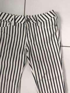 B&W Vertical Stripe Jeans
