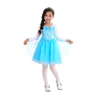 Elsa Frozen Costume - Pretty Elsa Frozen Long Sleeve blue dress