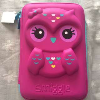 Smiggle Owl Hardtop Pencil Case (Purple Gift Set)