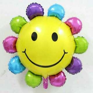 BNIB Sunflower Smiley Foil Balloon