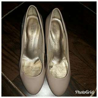 MARKS & SPENCER Nude Gray Shoes