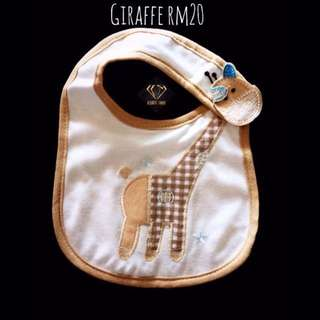 Giraffe Snap On Bib #Bajet20
