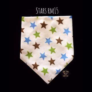 Stars Triangle Cotton Bib #Bajet20