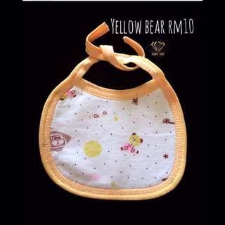 Yellow Bear Bandana Cotton Bib #Bajet20