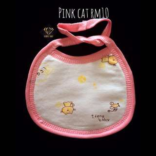 Pink Cat Bandana Cotton Bib #Bajet20