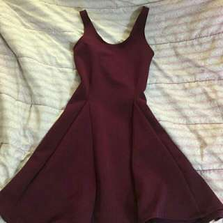 Purple/Maroon Dress