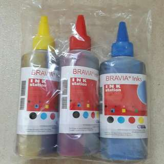 Printer Ink Refill Bravia Inks Ink Station COLOURED 3 Bottles DIY Made in Germany 100ml NEW
