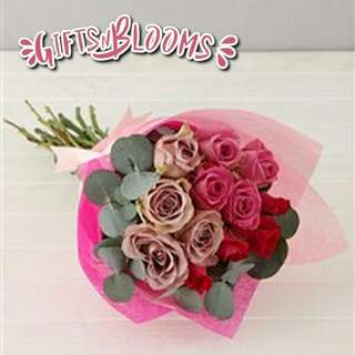 Fresh Flower Bouquet Surprise for Special Anniversary Birthday Gift V123 - IJMHG