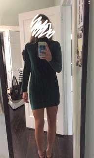 Green velvet lioness dress