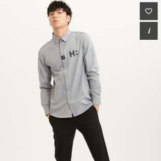 Korean H:Connect Grey Shirt (Grey) (M size)