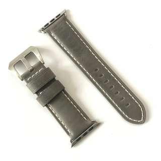 淺灰色皮錶帶 For 42mm Apple Watch - Series 1, 2 & 3