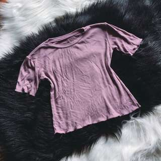Cotton purple top