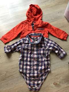 Long sleeved TOP & romper for baby boy