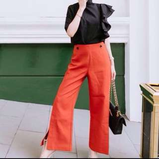 Moscato orange slit pants
