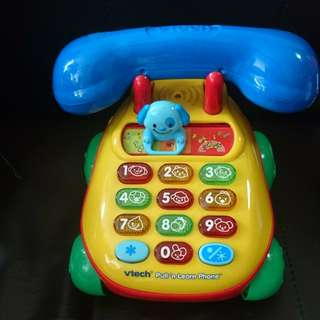 Vtech pull and learn phone 玩具 電話