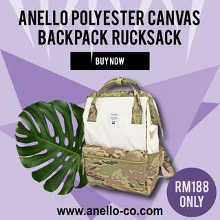 ANELLO Polyester Canvas Backpack Rucksack