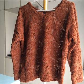 Discount 20 %. See-through Sweater