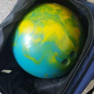 Storm Bowling 9 lbs for Lady cum Ebonite Bag