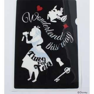 日本版 - Disney Alice in wonderland x Afternoon tea Clear File 迪士尼愛麗絲 文件夾 - B