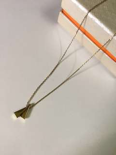Necklace with double triangle charm
