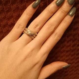 🚚 純銀蛇造型戒指