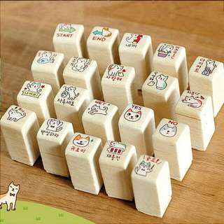 Po cute cat set of 20 stamps