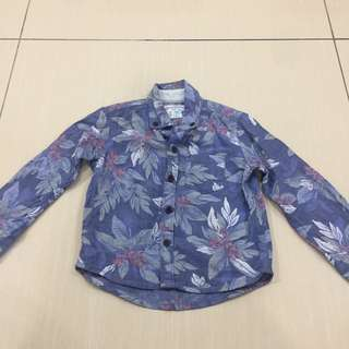 Floral baby shirt