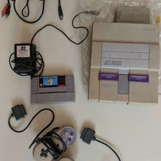 Super Nintendo entertainment system. Used.