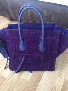 Celine Phantom in purple suede leather
