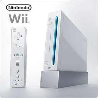 Wii Console with two controllers set. Box is also available too.