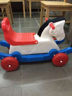 Scooter rocking horse