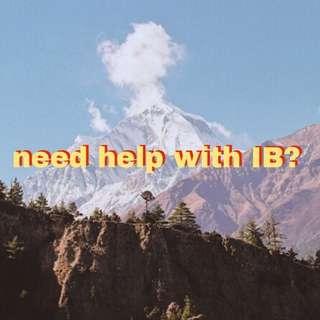 need help with IB?