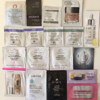 Free for all High-ended skincare samples